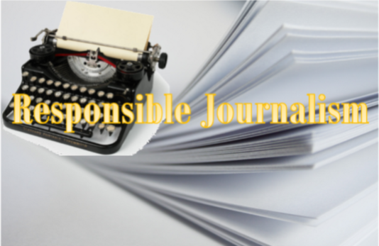 What is responsible journalism?