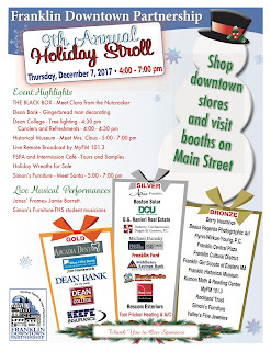 Franklin Holiday Stroll to be Thursday, Dec. 7