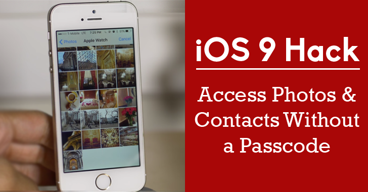 how to access iphone without passcode ios 9 how to access photos and contacts 18540
