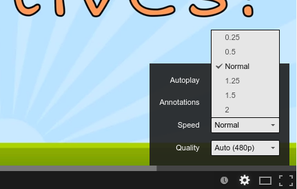 How to change the playback speed of a Youtube video (two