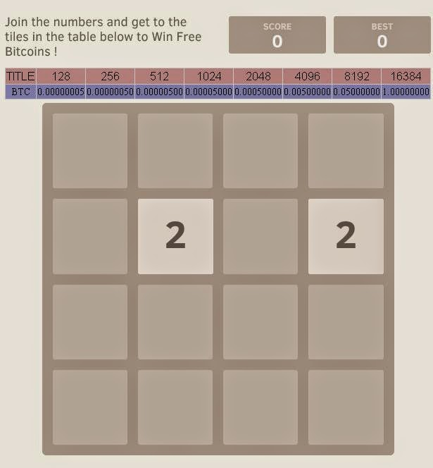 Get Free Bitcoin With Play Game 2048 Galaxy Blogger Template -