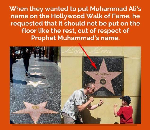 Hanya Nama Muhammad Ali Yang Diabadikan Di Dinding 'Walk Of Fame'.