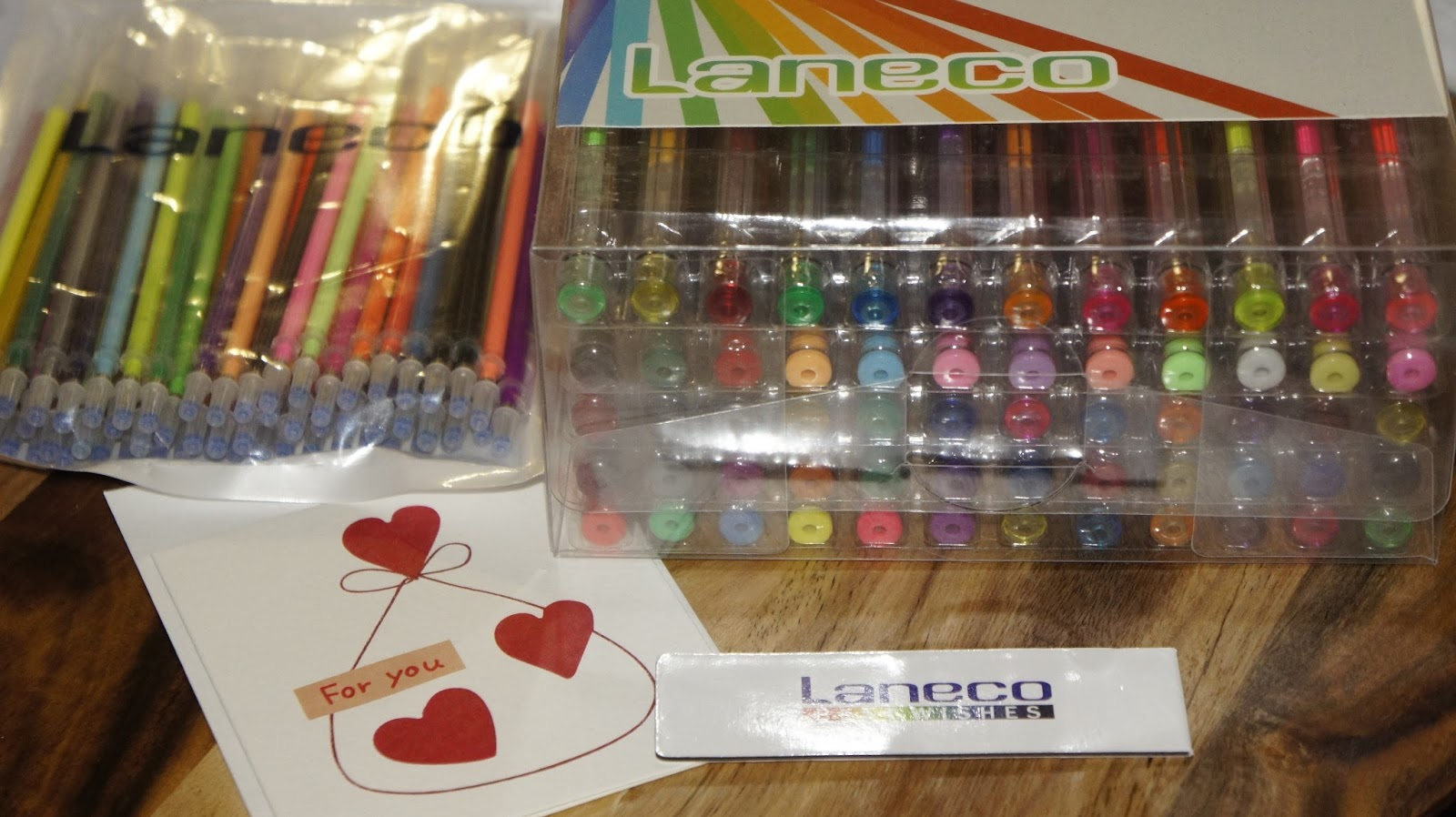 Laneco 120 Coloring Gel Pens Set with 60 Colored Gel Pens and 60 Ink Refills