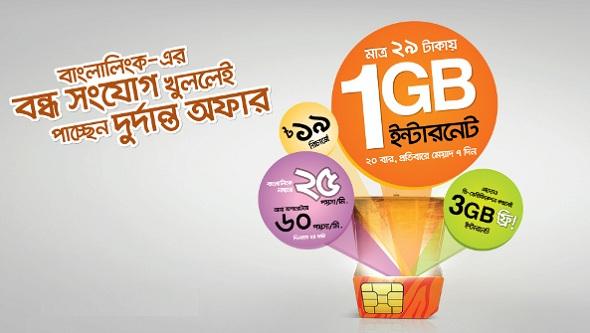 Banglalink 3GB FREE internet