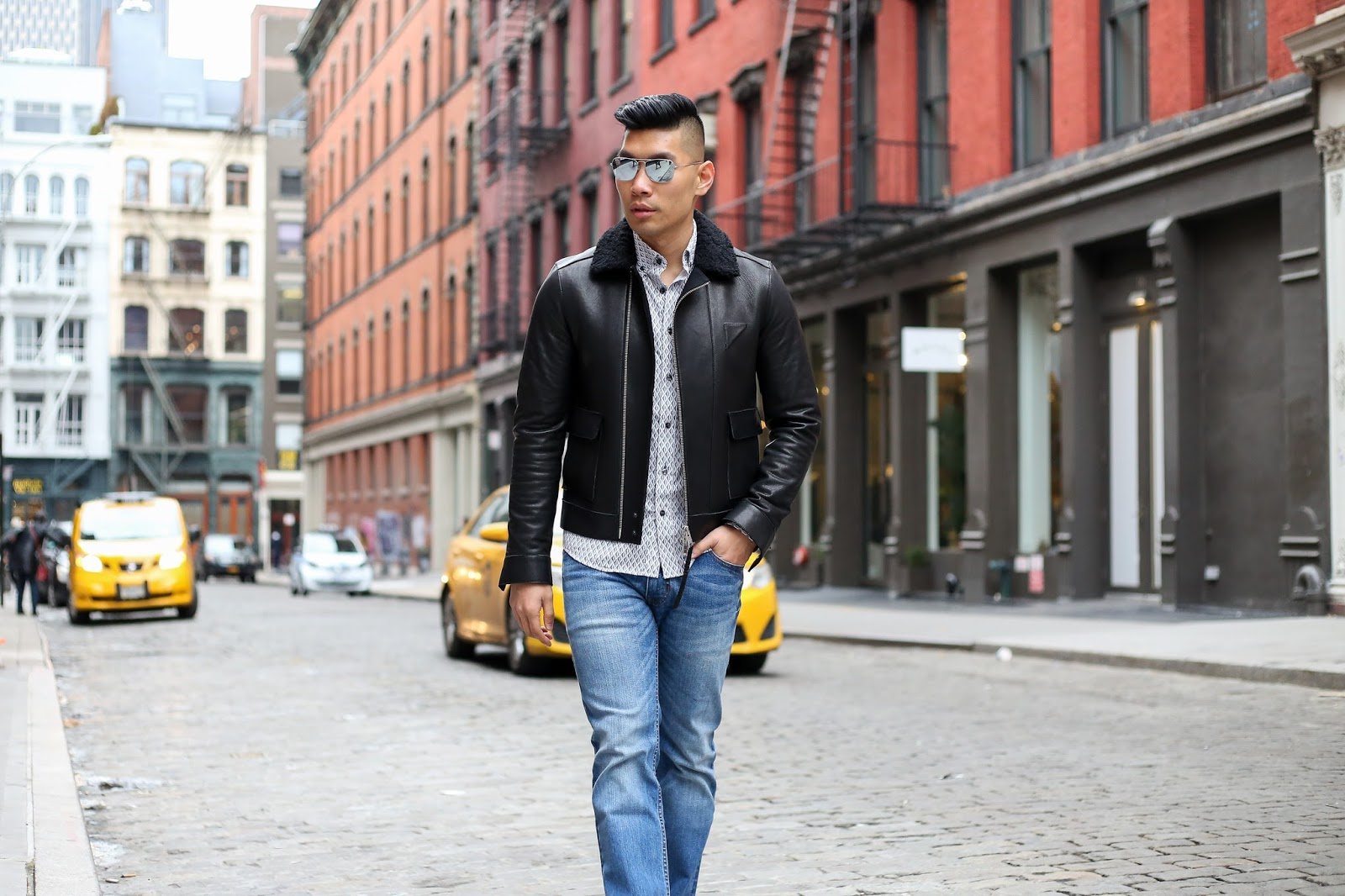 Slate Denim with All Saints Jacket, Menswear Outfit