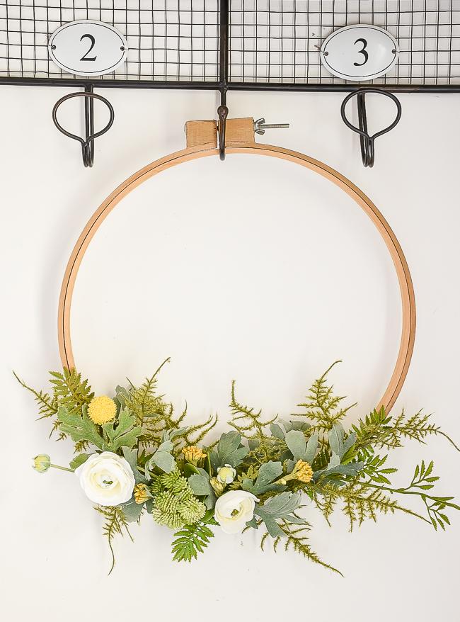vintage quilt hoop wreath
