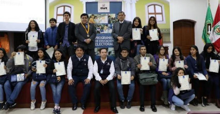 ONPE: Fortalecen la educación electoral en jóvenes universitarios - www.onpe.gob.pe