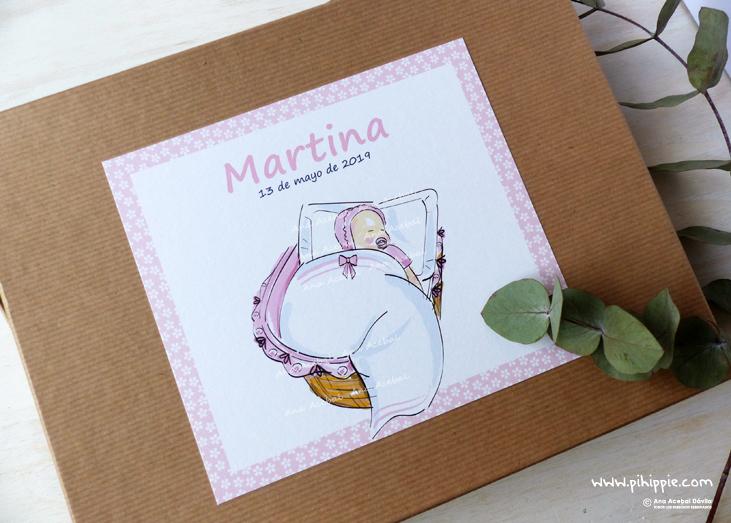 caja libro de bautizo niña