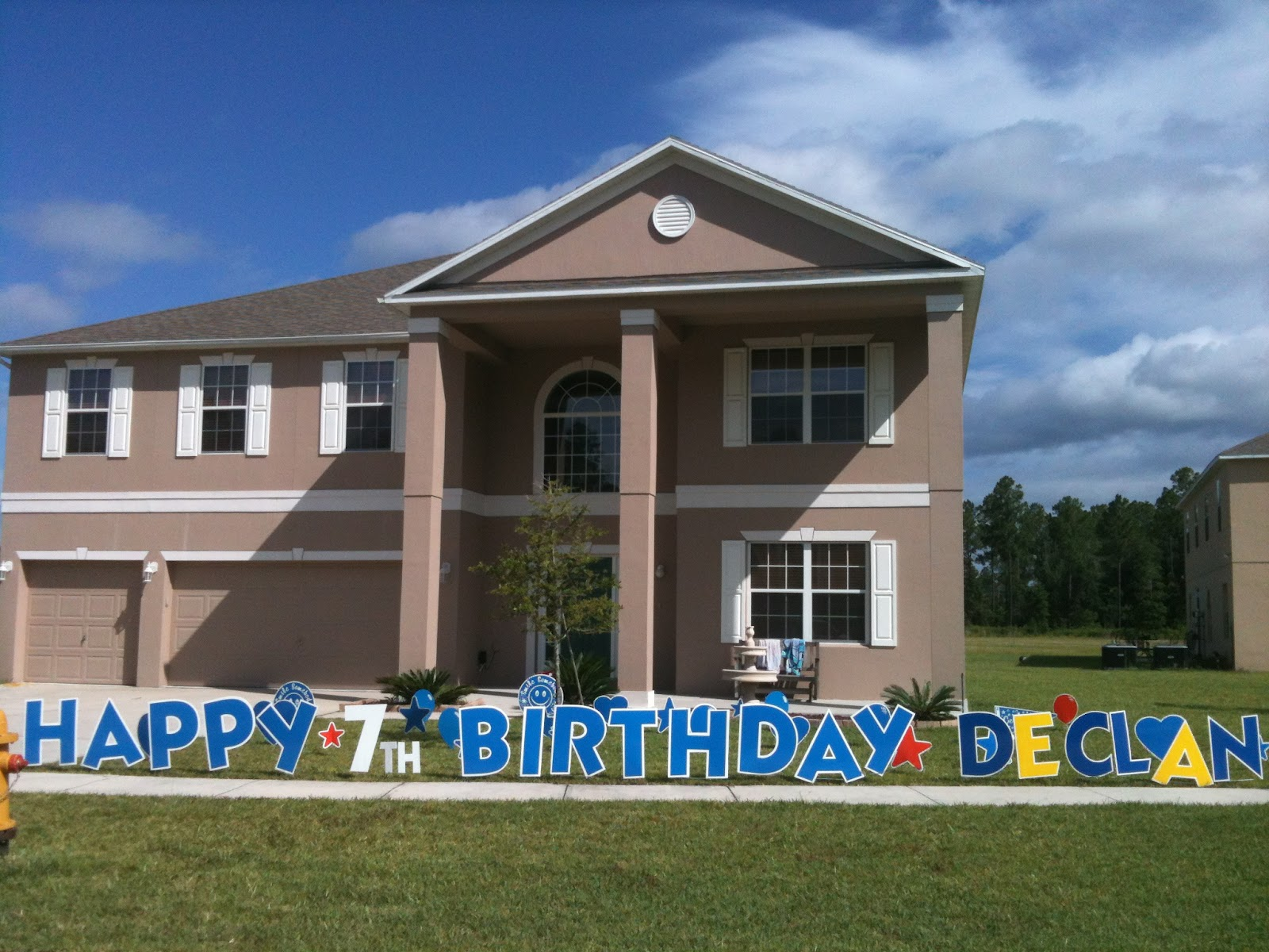 Big Yard Card Can Surprise Your Little Boy For A Birthday Our Blue HAPPY BIRTHDAY Letters Are The Perfect Addition To Make Look Great