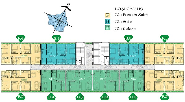 Bán lại căn hộ chung cư Diamond Lotus 80m2 tầng cao giá 2,93 tỷ