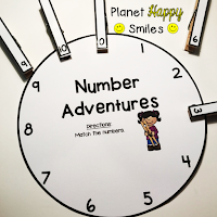 Number Wheels, Planet Happy Smiles