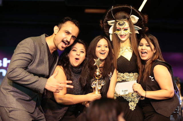 Star Salon Hair Stylist Niell Talwar with the Runner ups