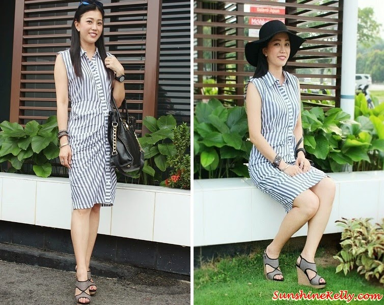 ootd, Corshacomo, Zebra Dress, Fedora Hat, forever 21, hat, black white stripe dress, office lady look, tai tai look