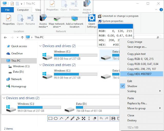 برنامج Snipaste المجاني أخذ لقطات الشاشة screenshot والتعديل عليها