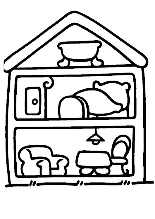 Colorear casa de muñecas