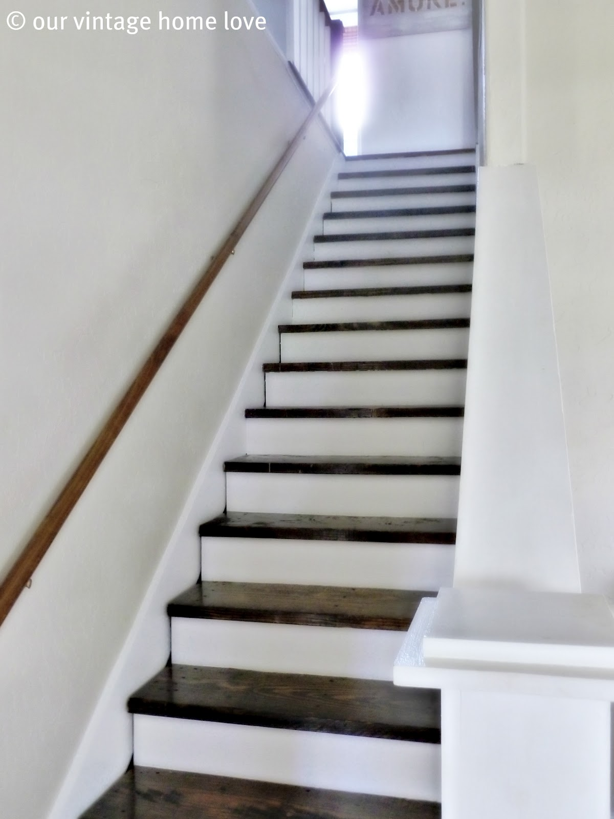 Vintage Home Love New Bedding And Stair Project Update Part I