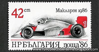 McLaren 1986 Stamp