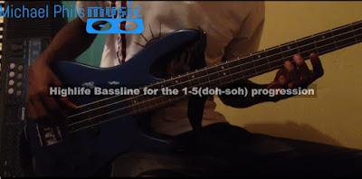 Nigerian highlife bass guitarist