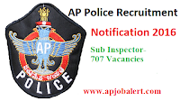 AP Police Recruitment 2016- Sub Inspector 707 Vacancies