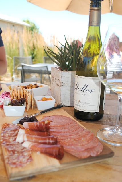 Grab some friends and enjoy some charcuterie at wine at a vineyard.