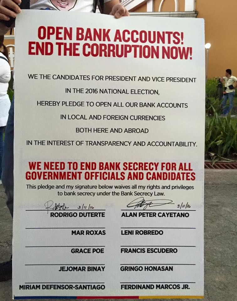 Image result for duterte sign bank waiver cayetano
