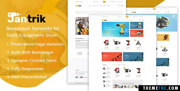 Isadore Bleda Jantrik - Bootstrap4 Template for Tools, Equipment