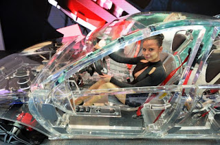 Driving transparent car