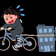 自転車操業のイラスト(女性)