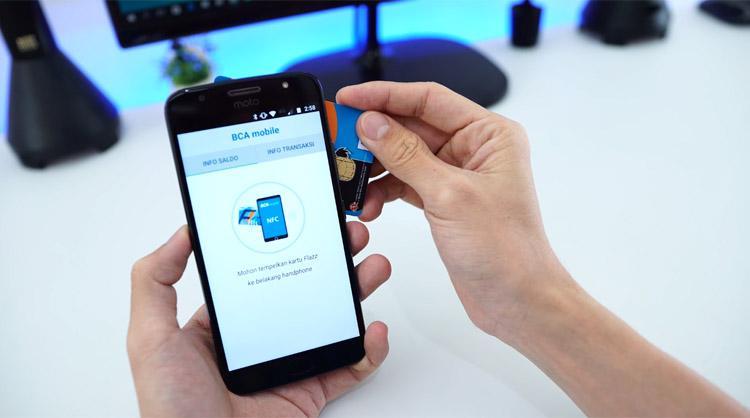 Fitur NFC (Near-field communication) untuk cek saldo