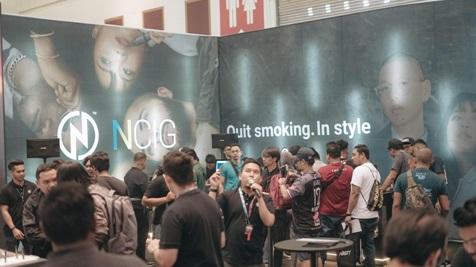 Suasana booth NCIG ketika di acara Malaysia International Vape Summit 2019, awal minggu lalu