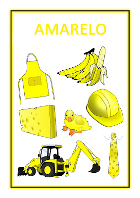 Atividades com Cores - Amarelo