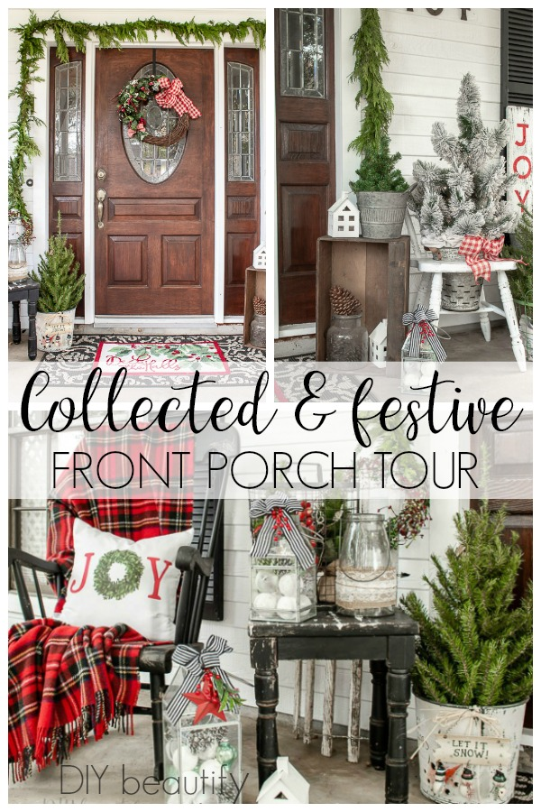 collected and festive front porch tour