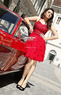 Hansika Motwani in lovely Red Mini Dress Dance Stills 11 .xyz.jpg