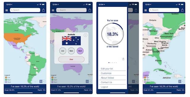 Mapa odwiedzonych miejsc - jak stworzyć? Jakie podróżnicze aplikacje warto mieć na swoim telefonie? Ile procent całego świata widziałeś?