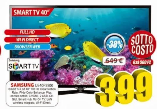 Sottocosto Samsung UE40F5500 Smart Tv 40 pollici 500 pezzi ...