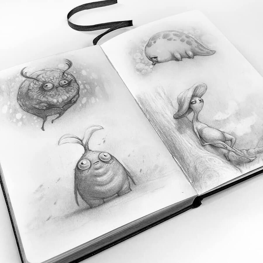 07-Drawings-of-Creatures-Stella-Bialek-www-designstack-co