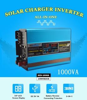Energi Terbarukan Plus: Solar Inverter 1000 Watt LCD DISPLAY