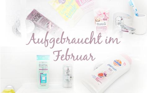 Aufgebraucht im Februar