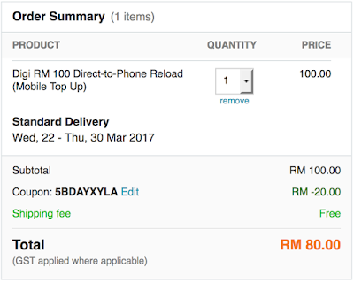 Lazada Voucher Code for Mobile Reload Discount
