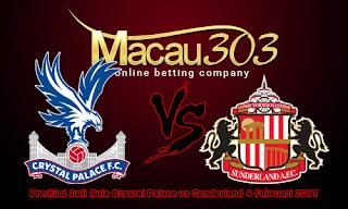 Prediksi Judi Bola Crystal Palace vs Sunderland 4 Februari 2017