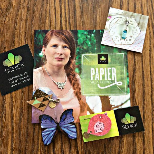 paper butterfly brooch, paper bird brooch, geometric paper keyfob