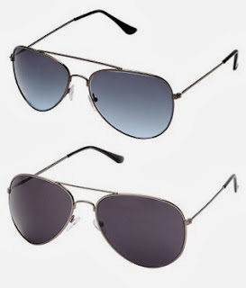 Davidson Aviator Metal Frame Black Blue Gradient Unisex Sunglasses-(Buy 1 Get 1 Free) just for Rs.299 Only with Free Shipping