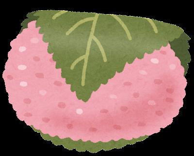 桜餅のイラスト「道明寺」