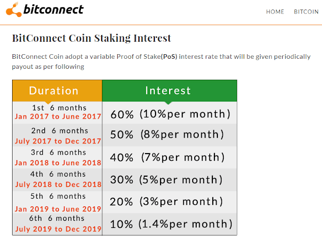 Bitconnect - sitio web y sus promesas.