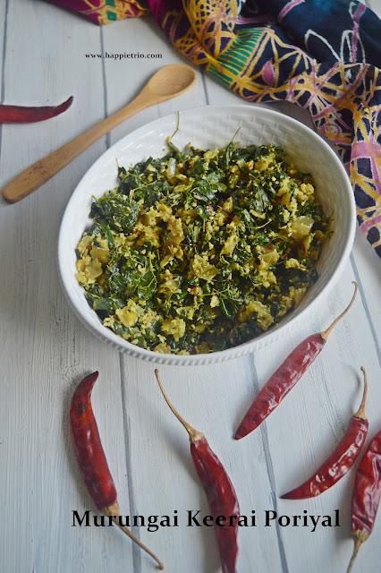 Drumstick Leaves Stir Fry | Murungai Keerai Poriyal