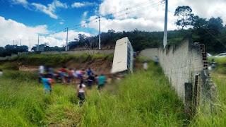 Acidente com ônibus da  Novo Horizonte