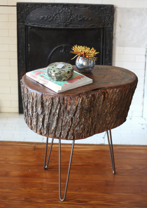 You guys, we made a table from a slice of tree stump, no joke! We mentioned  tackling a DIY project we were pretty excited about weekend before last   well ...