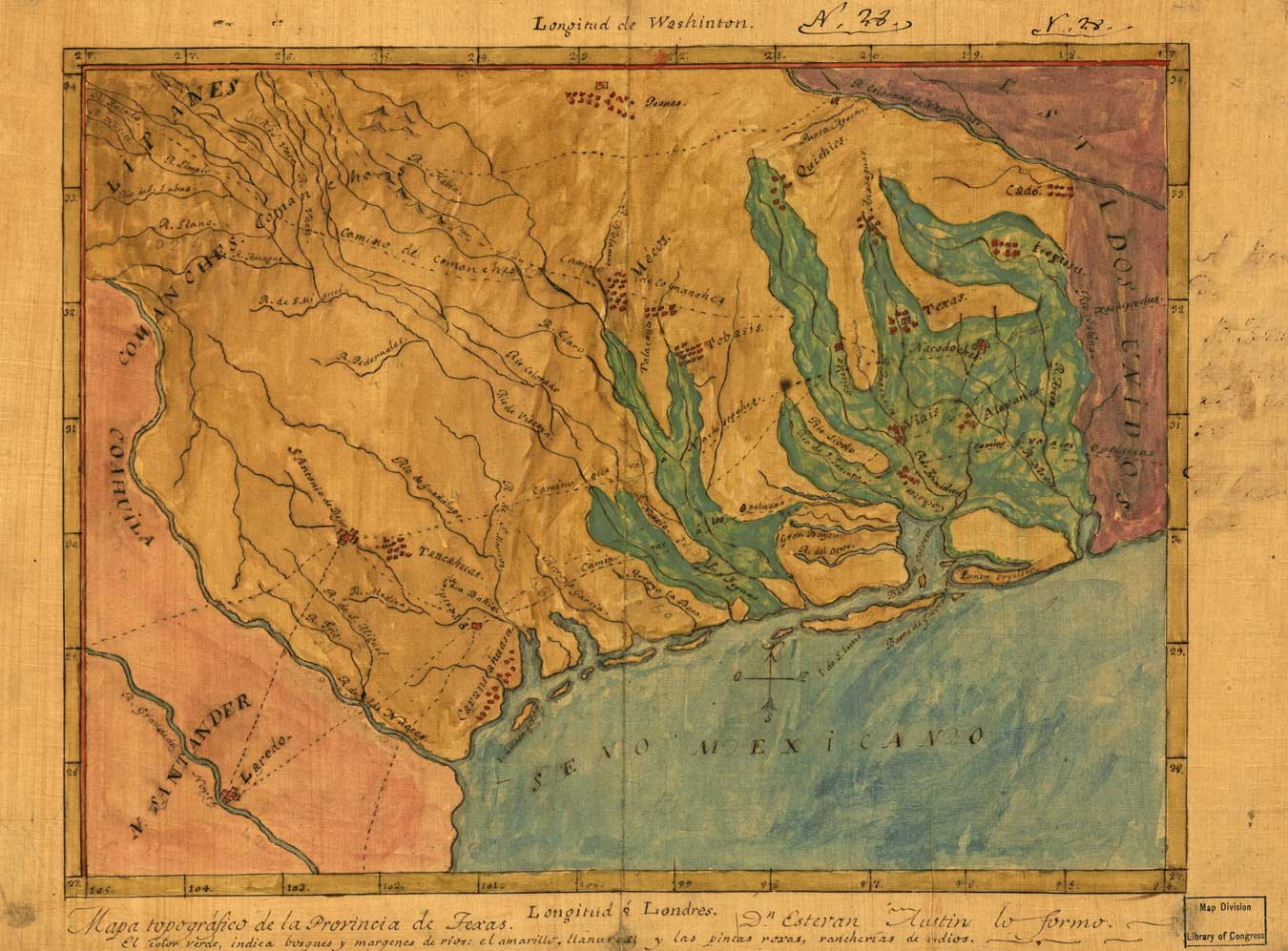 texas map drawn by stephen f austin in 1822 source click on any image to enlarge