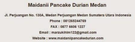 Alamat Distributor Pancake Durian, oleh-oleh khas Meda