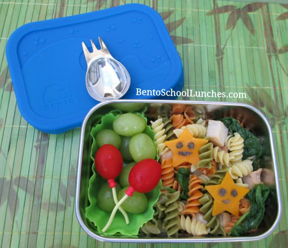 Pasta bento, Ecolunchboxes Blue Water Bento Splash Box Kit Review